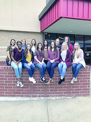 Courtesy Photo Lady Eagles volleyball team members named to All-District are, from left to right, front row, Jamyah Anderson, Madi Devlin, Addison Norton, Jillian West and Mary Fletcher. Back row, Jeylei Wick, Kailee Millsap, Faith Long, Haley Hancock, Lauren Boudreaux and Merle Besson.