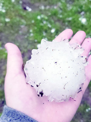 Courtesy Photo Softball sized hail fell in Alto while the rest of Cherokee County saw pea to golf ball sized hail over the weekend.