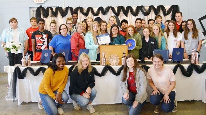 Rusk High School students, pictured, were presented with the DEC Spirit of Youth award during the Rusk State Hospital's annual volunteer and donor appreciation lunch, held on April 18.