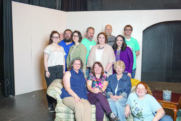 "Photo by Heather Beck The cast and crew of ""Red Velvet Cake War', a Hope, Jones and Wooten play, will take the stage for their first performance on Friday, May 3."