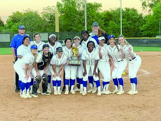 Courtesy Photo The Jacksonville Maidens finished their district schedule with a 13-1 record, tying Hallsville as co-District champions.