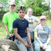 Courtesy photo Local teens, shown from left, Chris Dean, Ciro Cruz, Lauren Clevenger, Adilyn Henley and Sage Breen (not pictured) spent their recent bad weather days helping their fellow neighbors clean up, repair and recover from the tornadoes that hit Alto on Saturday, April 13.