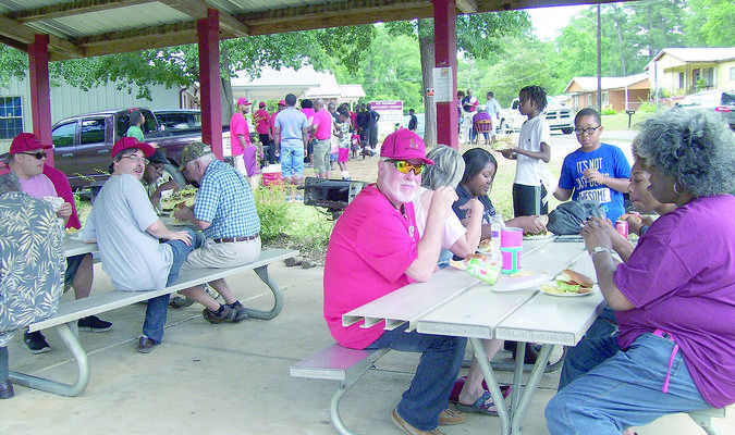 File photo Community members from all over Cherokee County enjoy the picnic lunch during last year's Juneteenth celebration at Conley Park in Rusk.