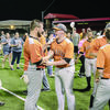 Photo by nathan johnson - natejohnsonphoto.com   Wells seniors Jackson Scroggins and Dillon Manning (center) and the rest of the Wells Pirates baseball team, along with fans, celebrate their win over LaPoynor last week. The Pirates are now advancing to the State baseball playoffs in Roundrock. PPND - Pirate pride never dies!