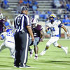 Courtesy Photo Defensive Indians Cameron Fuller (#23) and Jordan Hicks (#14) go for the Palestine Wildcat ball carrier.