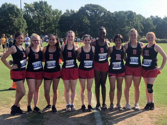 Courtesy Photo Lady Eagles running in the Tyler Lee Cross Country Classic Saturday, Sept. 7, included (from left) Melanie Santos, Haylee Gray, Zuri Flores, Alyssa Hardy, Kristen Long, Jalissa Swindell, Jazmin Vences, Lauren Boudreaux and Chassidey Lusk.