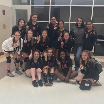 Courtesy photo Rusk High School Lady Eagle freshmen Volleyball team went undefeated in the Palestine Round Robin Tournament held Aug. 30.