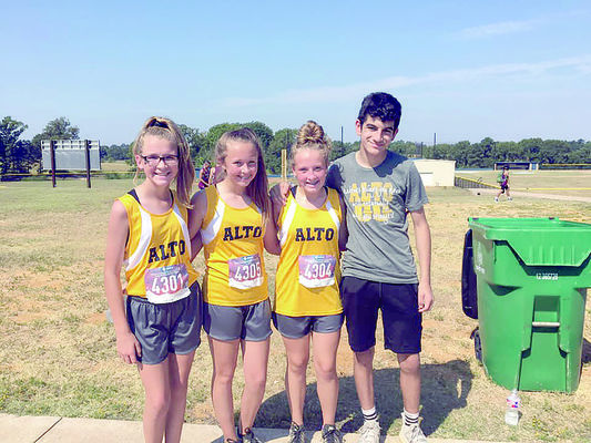 Alto's junior high was represented at the East Texas Invitational hosted by New Summerfield by Ashley Black, Jennna Lindsey (12th), Julianna Gould (13th) and Landon Galvan.