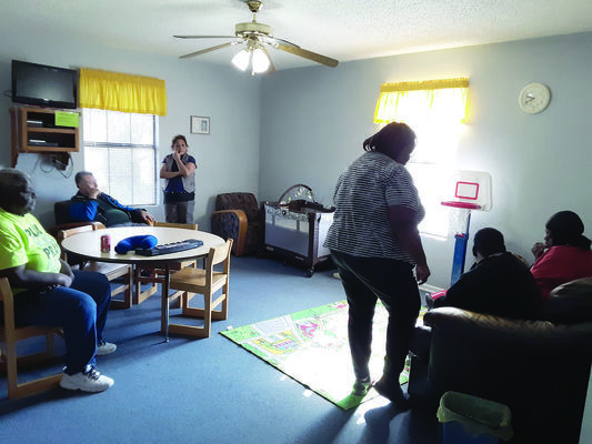 Photo by Cristin Parker Visitors to Rusk's Skyview/Hodge Visitor Center, aka the Little Blue House, enjoy all the comforts of home, while they wait for their visits with their incarcerated family members.