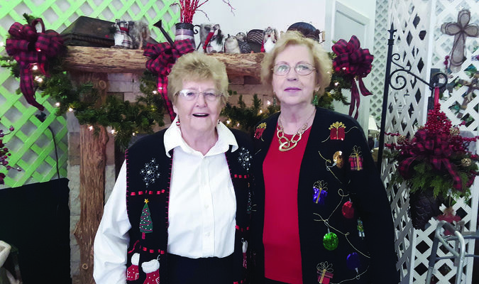 Photo by  cristin parker Rusk residents Jan Hardy, left, and Nell McNatt were grand marshalls of the 2019 Rusk Christmas parade. The pair have been instrumental in making sure the lighting of the downtown square for Christmas has gone off without a hitch for 25 years.
