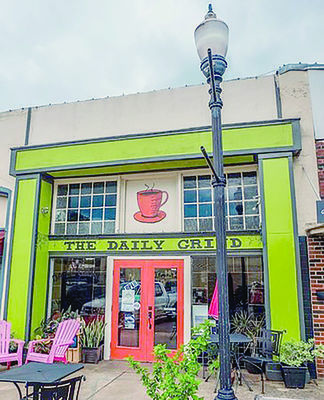 Courtesy Photo The Daily Grind, located just off the Square in Rusk was named Best Coffee Shop in the Under 50K population category in the County Line Magazine's Best of the Upper East Side of Texas readers survey.