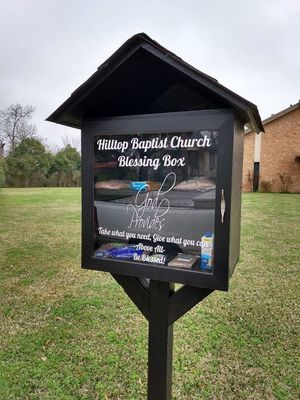 Courtesy photo  Alto residents are invited to utilize the community's Blessing Box, at Hilltop Baptist Church, 210 Mill St. in Alto. Leave something you do not need, then take something that you do.