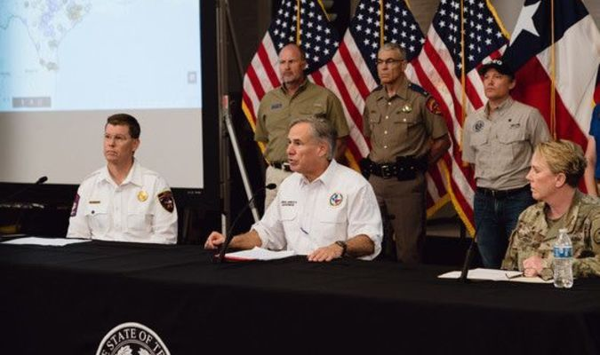 Gov. Greg Abbott holds a briefing on Tropical Storm Cristobal and provides updates on hurricane preparedness on Friday, June 5.