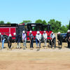 Jacksonville City Council members, city staff and other construction project officials break ground at the site of the city's new public safety complex Wednesday, June 17.