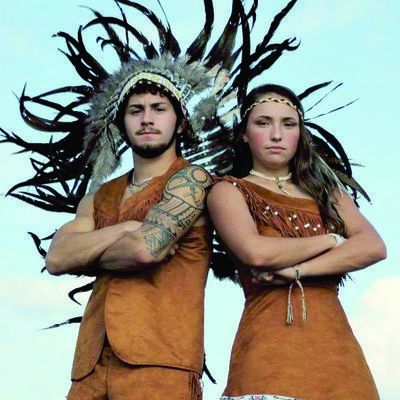 Courtesy photo Jacksonville High School fightin' Indians Donovan Castillo and Riley Todd are this year's mascots.