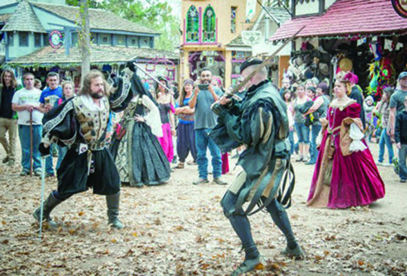 Courtesy photo Independent vendors will be looking to hire heroes and villains, knaves and royalty, hawkers and minstrels, food and merchandise sales, food prep, games, rides, and more during the Texas Renaissance Festival's annual job Faire, scheduled for Sept. 5 and 6 at the festival grounds in Todd Mission.