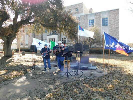 Musicians perform at the event March 2 in Rusk