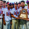 Eagles fly high  Members of the 2021 Rusk Eagles varsity baseball team gather around a trophy awarded the team for securing the second place position following a June 10 game for the 4A state championship title in Austin.  Photo by Donald J. Boyles/DJB Baseball photography