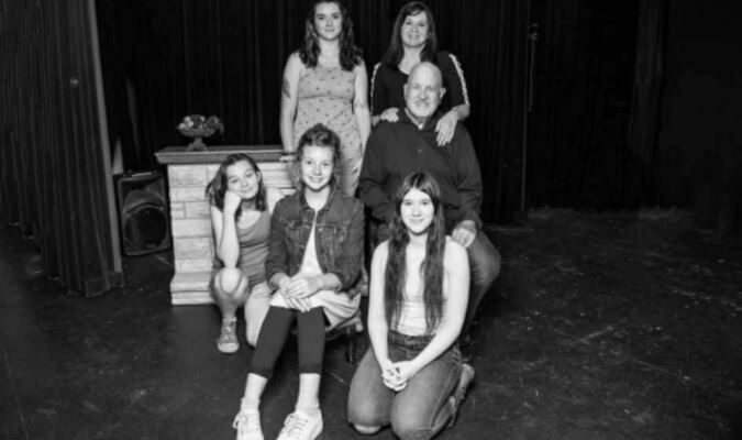 """Cast of 'Little Women' prepare for October production  An Oct. 8-10 production of the beloved classic """"Little Women"""" will be staged at the Cherokee Civic Theatre, with tickets going on sale Sept. 20. Cast members include, from left, top row – McCartney Bryant and Minette Bryant; seated – Roger Bryant; front row – Meg Kovacs, Alatheia Hague and Daphne Scantlin.   Photo courtesy of Cherokee Civic Theatre"""