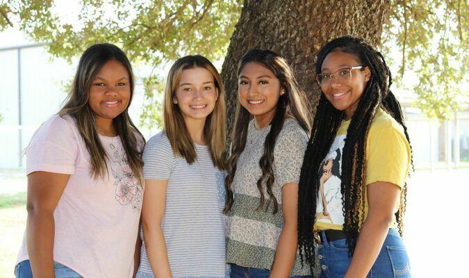 Homecoming Queen nominees, from left are: Alex Bays, Katie Jones, Valentina Ramos-Rangel, Mya Tyra  Courtesy photos