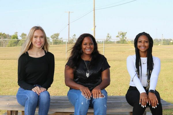 Homecoming Duchesses, with classes represented are, from left: 11th grade – Camille Gresham, 12th grade – Reanna Guinn and 9th grade – Z'Nyia Johnson. Not pictured is 10th grade candidate Bisleidy Castillo-Gaona.