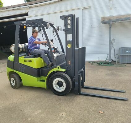 A volunteer test drives a new forklift at Rusk's Good Samaritan  Courtesy photo