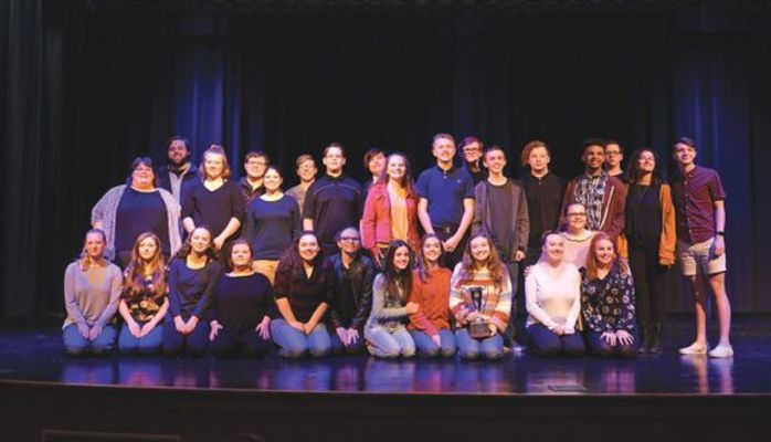 Eastside High School's one-act team captured the Region 1D sectional title Saturday, performing an original play written and directed by Coach Shane Burke. The team advances to Super Regions competition Nov. 9.