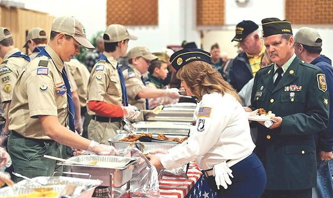 Local veterans, first responders and honored guests were fed well by area churches.    MICHELLE MULLINS PHOTO