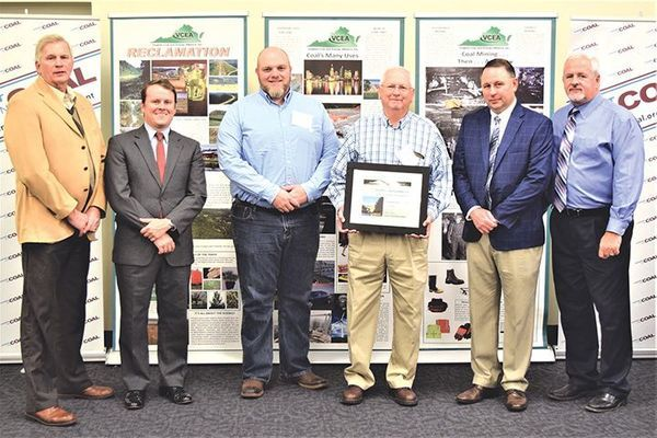 Red River Coal Co. Inc. recently won awards for best forestry reclamation of a Wise County mine and best completed hollow fill for a Wise County mine.