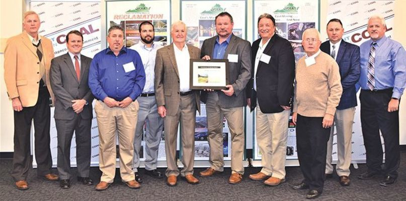 Savage Services Corp. was recognized for best abandoned mine land enhancement, regarding cleanup of the Looney Creek gob pile in Wise County.