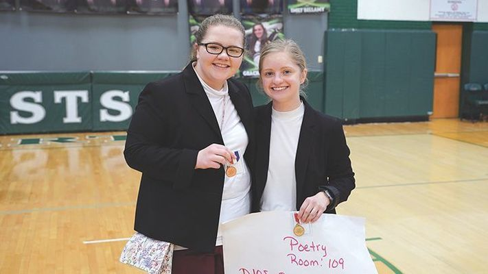 Poetry, left to right, Katie Levy, Cloey Bailey.