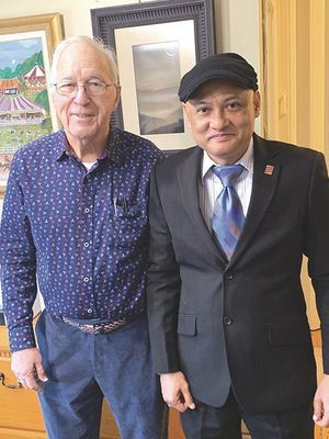 Don M. Green, CEO of The Napoleon Hill Foundation and Mohammad Azhar Abdullah who has become the most recent licensee owner for the Foundation's global outreach in Indonesia.