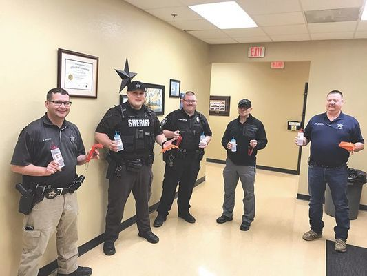 Sheriff Grant Kilgore and employees of the Wise County Sheriff's Office would like to thank the students in the Science Department at UVA's College at Wise for who made hand sanitizer and surgical masks for our deputies. Sgt. Mickel Mullins with the UVA Wise Campus Police delivered these much needed supplies to our office. Thank you for caring about our community!