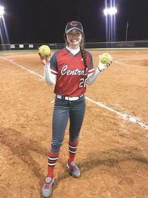 Central softball's Hannah Carter - SUBMITTED PHOTO