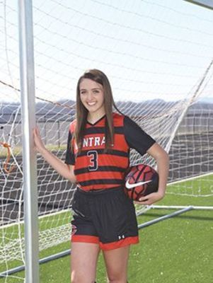 Central Lady Warrior soccer senior Kaylee Strouth. SUBMITTED PHOTO