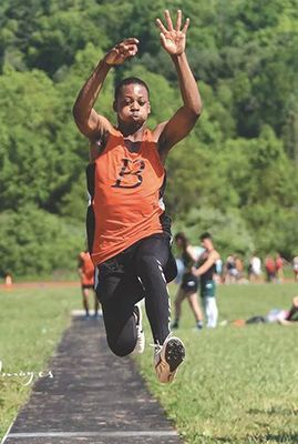 J.I. Burton Raider track senior Tyrell Ingram. PHOTO BY SAMMY BELCHER