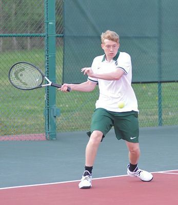 Eastside Spartan tennis senior Luke Kirk. PHOTO BY KELLEY PEARSON