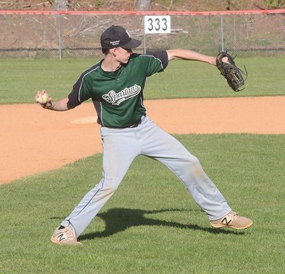 Eastside Spartan baseball senior Justin Sexton. PHOTO BY KELLEY PEARSON
