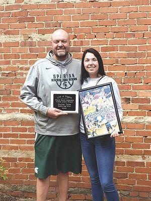 Eastside basketball senior Kaylee Yates is the girls' winner for the 2019-2020 season. PHOTO BY KAREN TATE