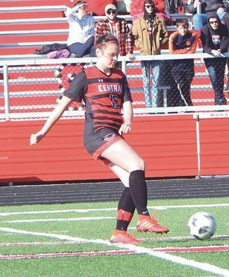Central Lady Warrior soccer senior Taylor Gentry. PHOTO BY BROOK WHEATLEY