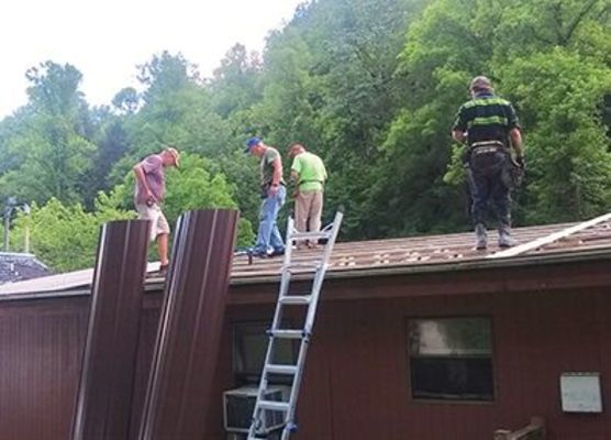 Roofing job site in Appalachia.