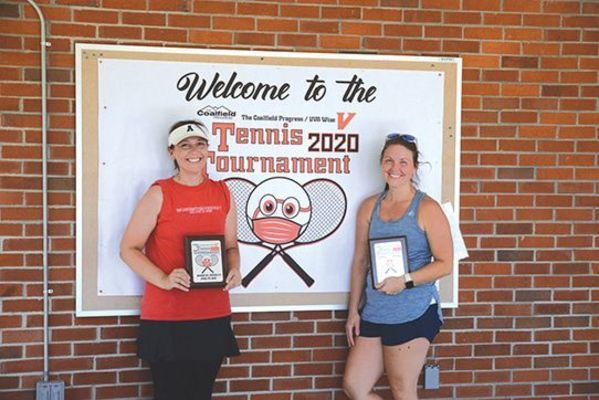 Former UVA Wise players Laura King Berry and Davina Dishner Wolfe earned a second place trophy in the women's doubles division.