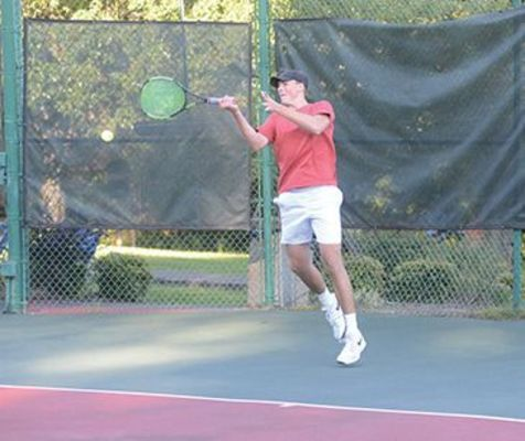 UVA Wise's Coleton Burke in the 2020 Coalfield Progress-UVA Wise tennis tournament.