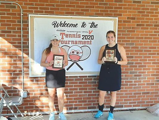 Haley Collins and Hannah Dotson took the girls' doubles championship.