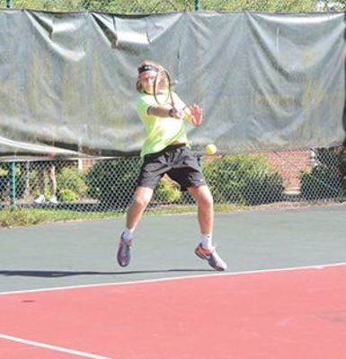 Randolph-Macon University transfer Jake Ferner made his presence known as he represented the Cavs and won the men's A singles division.