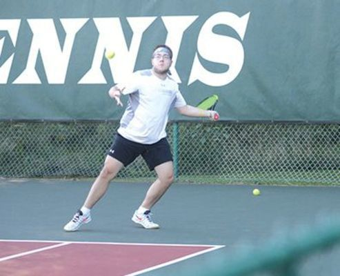 The Cavs' James Srsich in the 2020 Coalfield Progress-UVA Wise tennis tournament.