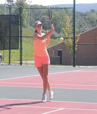UVA Wise's top-seeded women's tennis player, Liza Akimenko, dominated the women's division.