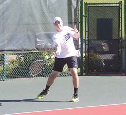 Luke Bolanos is one half of the men's doubles division winners.