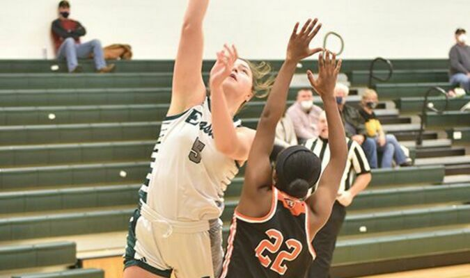 Anna Whited put up big numbers as the Lady Spartans held off Burton. PHOTO BY RICHARD MEADE