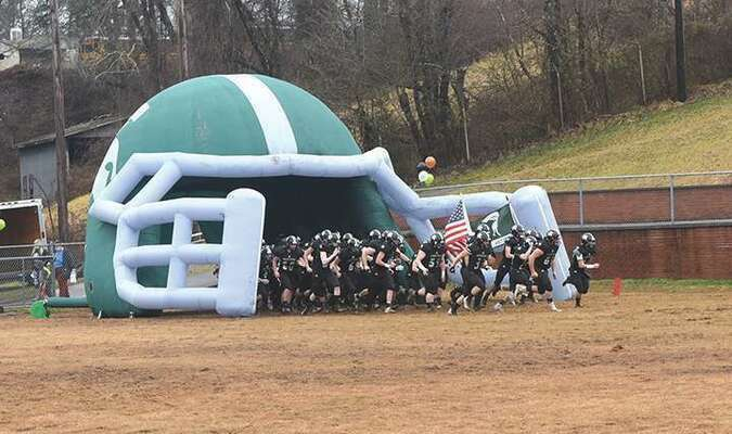 The Spartans take the field for the start of the 2021 spring football season. PHOTO BY RICHARD MEADE